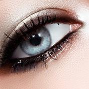 Fashion woman eye makeup. Perfect shape make-up and long lashes. Cosmetics and make-up. Closeup macro shot of fashion eyes visage