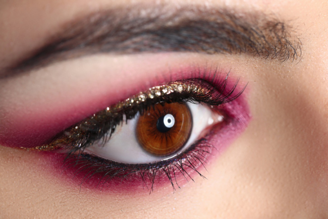 Bright trendy make-up